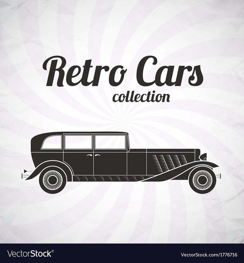 Retro car vintage collection vector | Price: 1 Credit (USD $1)