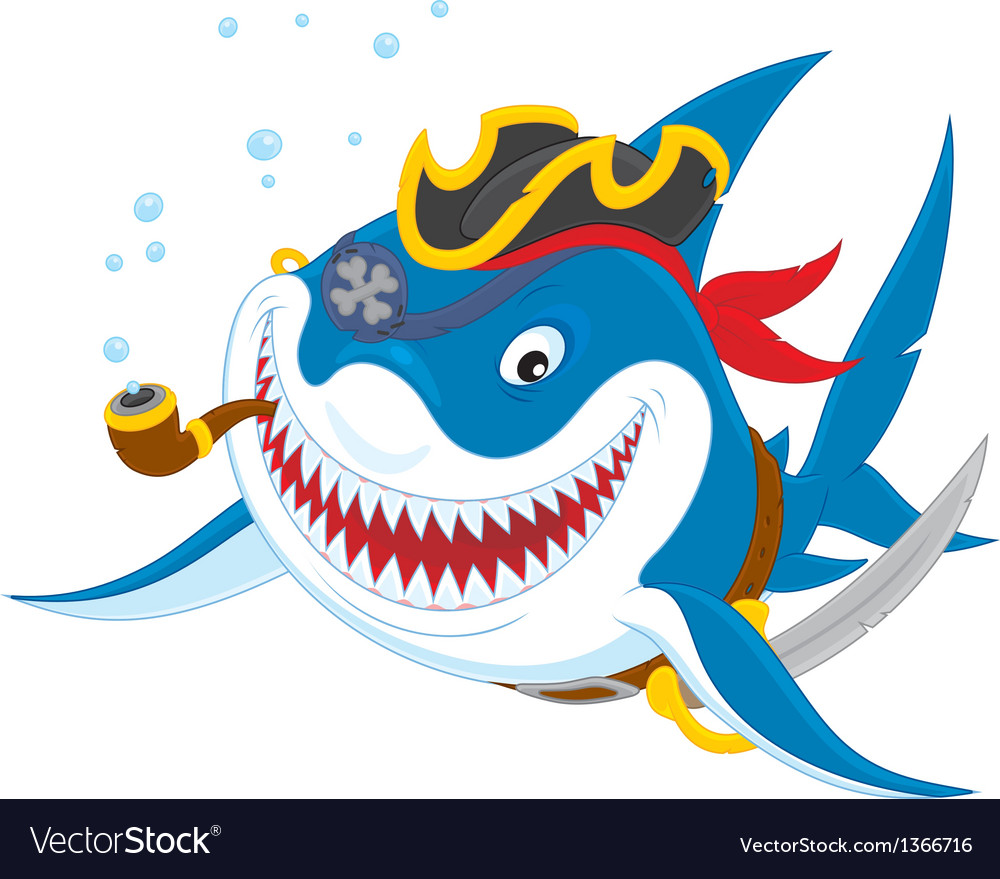 Shark pirate vector | Price: 3 Credit (USD $3)