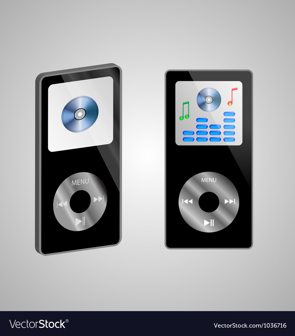 Two mp3 players vector | Price: 1 Credit (USD $1)