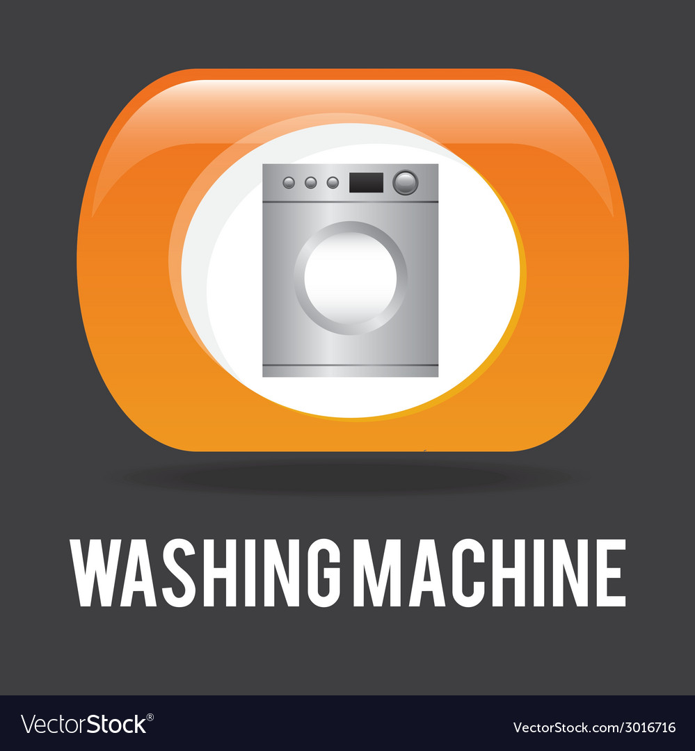 Washing machine design vector | Price: 1 Credit (USD $1)