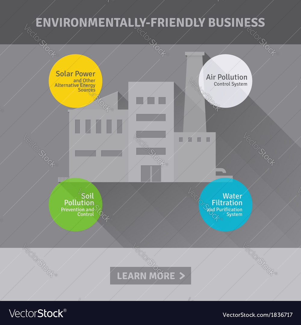 Concept of environmentally-friendly business vector | Price: 1 Credit (USD $1)