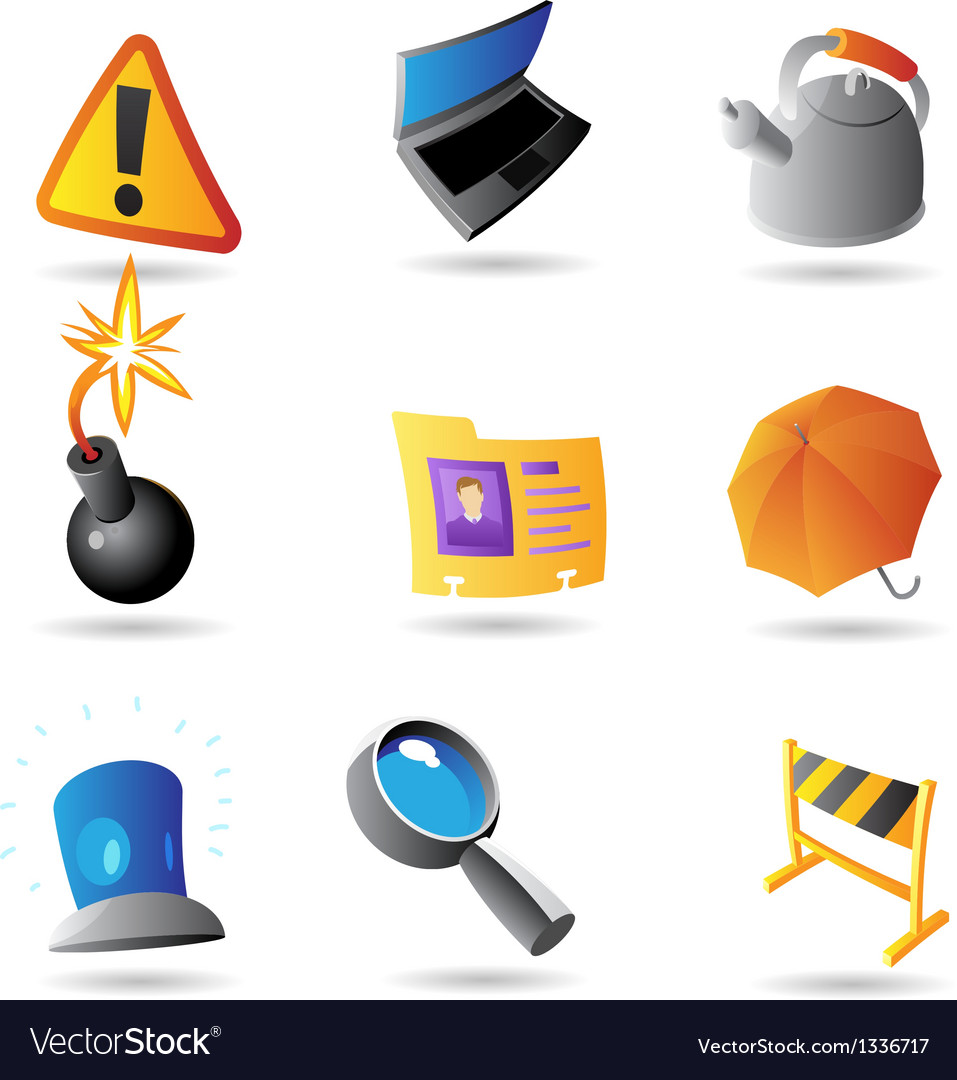Icons for program interface vector | Price: 1 Credit (USD $1)