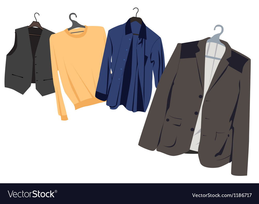 Mens clothing on hangers vector | Price: 1 Credit (USD $1)