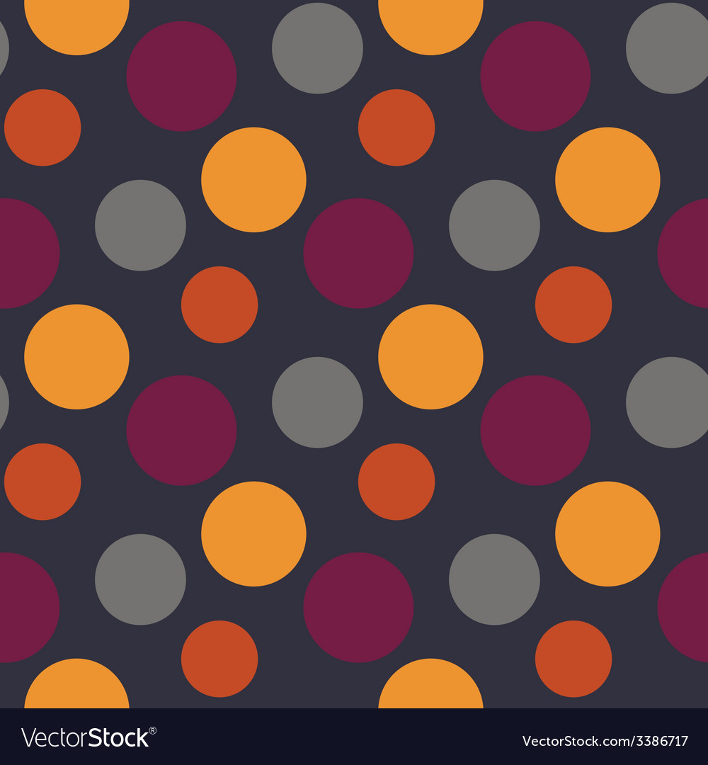 Pattern with polka yellowgreypurple dots vector | Price: 1 Credit (USD $1)