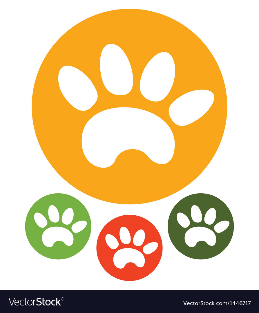 Paw print icons vector | Price: 1 Credit (USD $1)