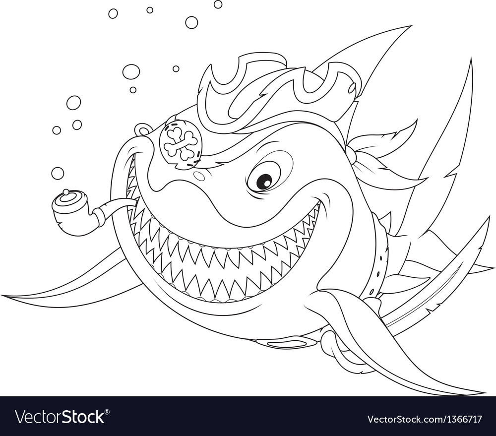Shark pirate vector | Price: 1 Credit (USD $1)