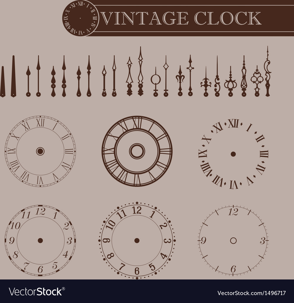 Vintage clock part vector | Price: 1 Credit (USD $1)