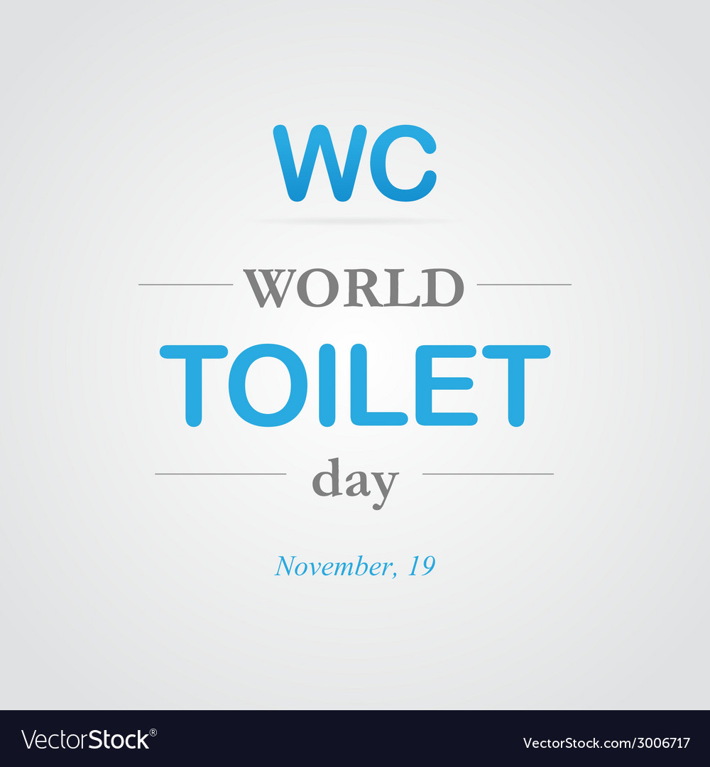 World toilet day vector | Price: 1 Credit (USD $1)