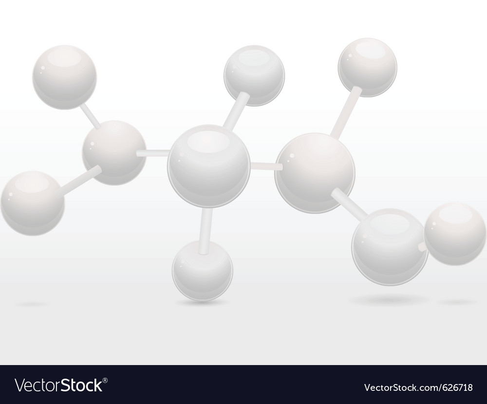 3d molecular structure vector | Price: 1 Credit (USD $1)