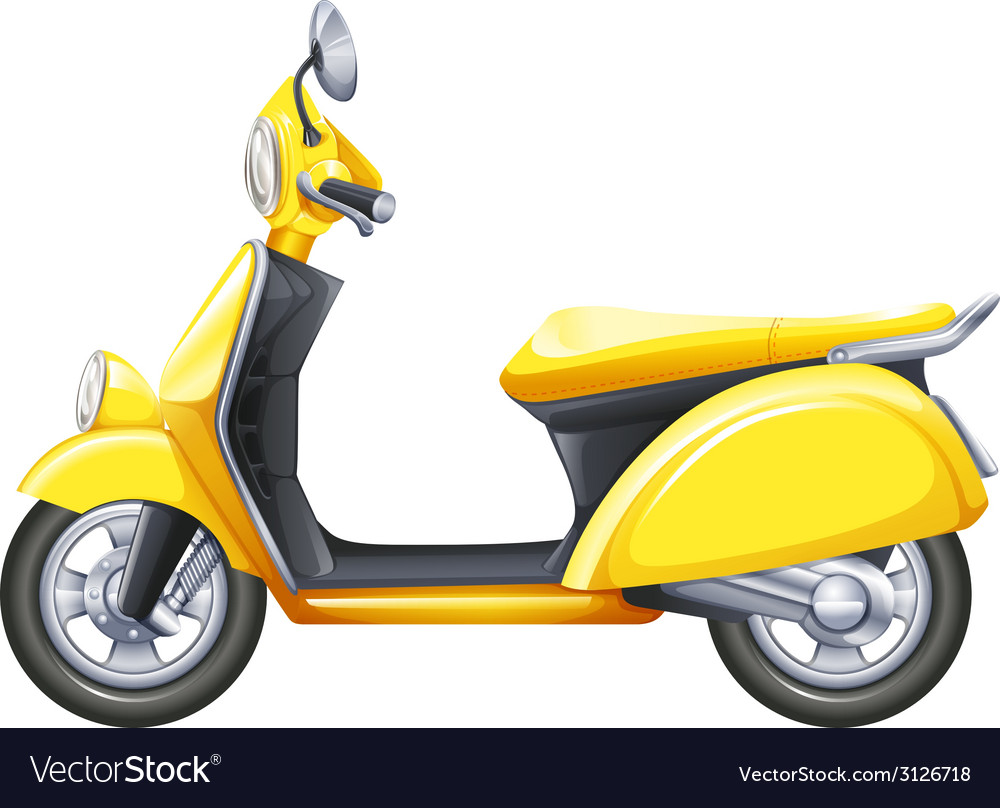 A yellow scooter vector | Price: 1 Credit (USD $1)