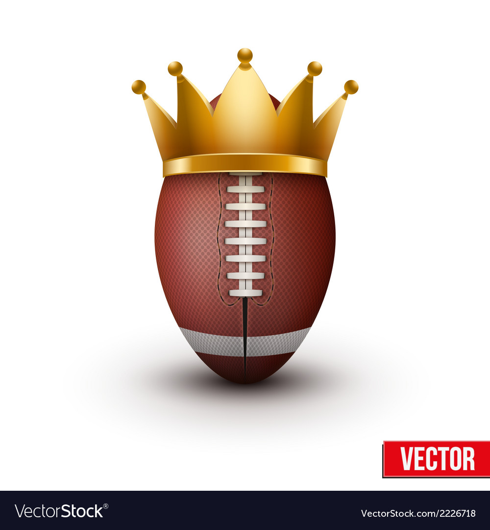 American football ball with royal crown vector | Price: 1 Credit (USD $1)