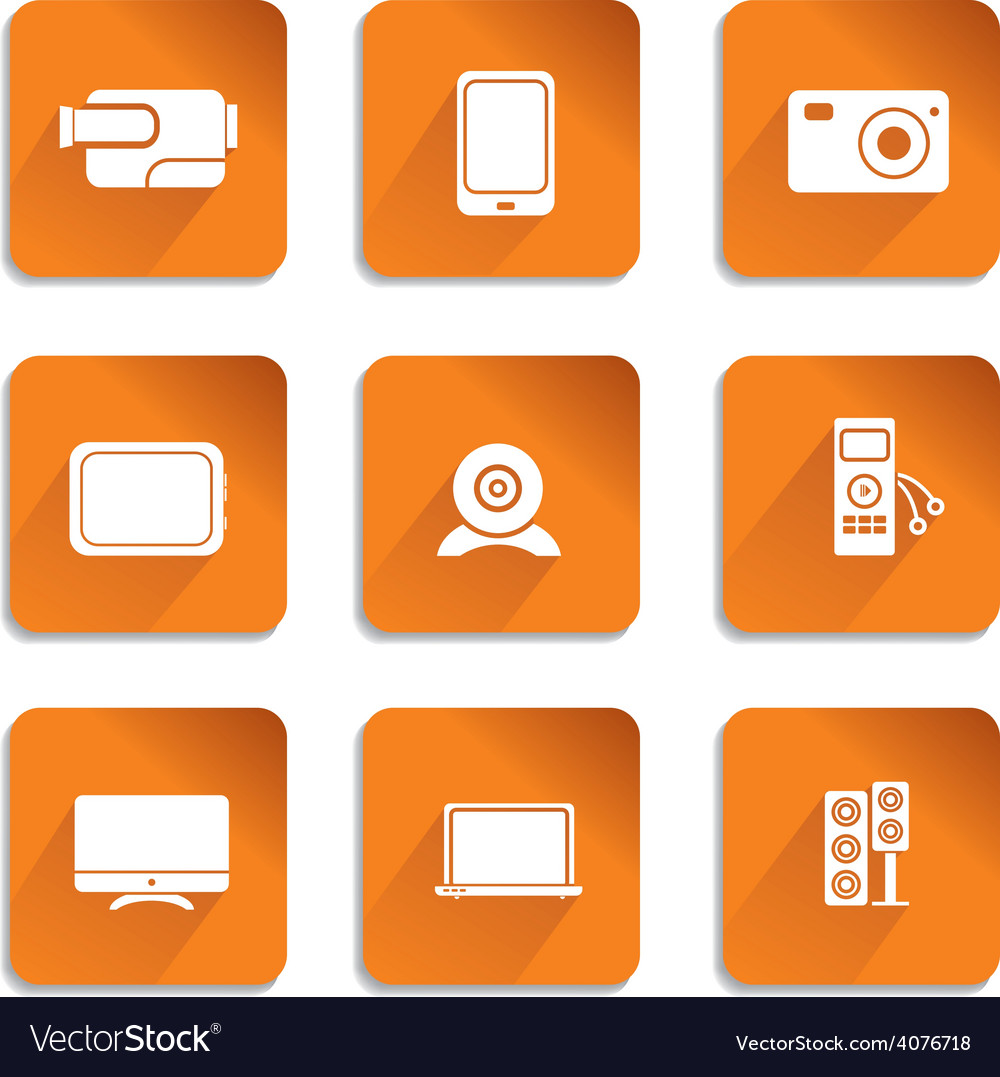 Audio video icons vector | Price: 1 Credit (USD $1)