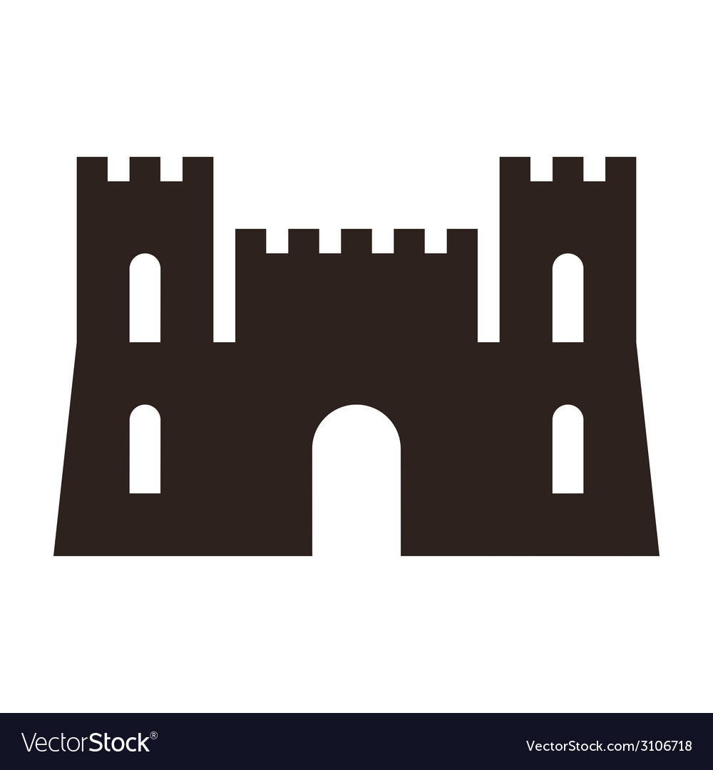 Castle icon vector | Price: 1 Credit (USD $1)