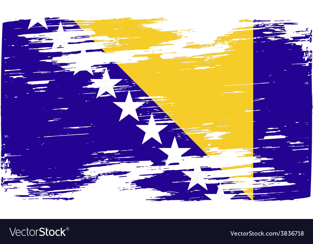 Flag of bosnia and herzegovina with old texture vector | Price: 1 Credit (USD $1)