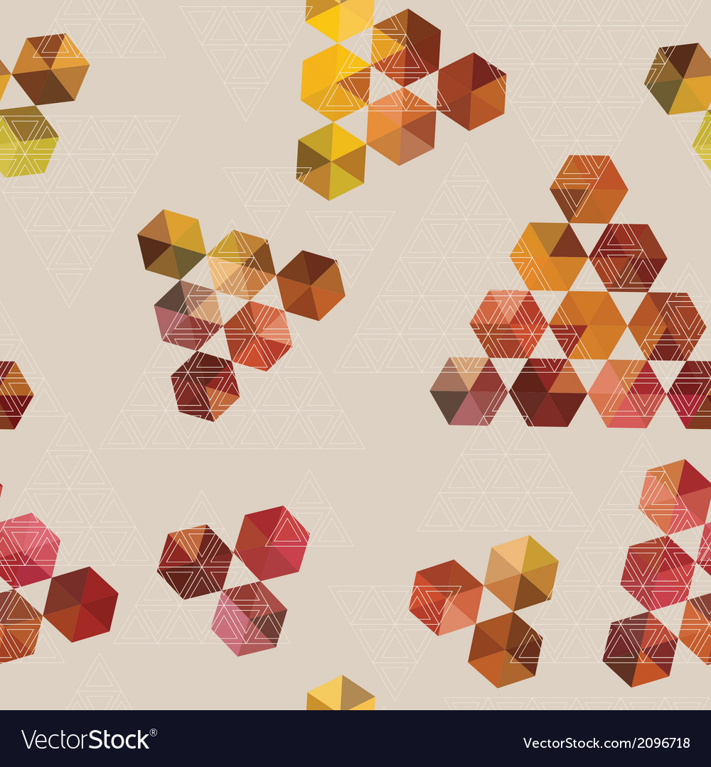 Geometric pattern of hexagons and triangles vector | Price: 1 Credit (USD $1)