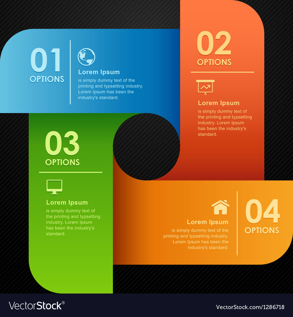 Modern business options banner vector | Price: 1 Credit (USD $1)