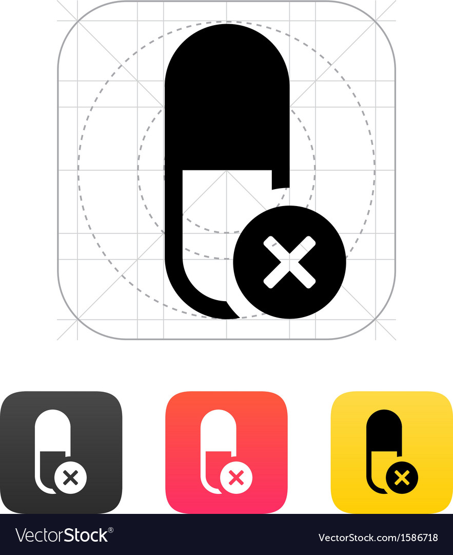 Pill capsule icon vector   Price: 1 Credit (USD $1)