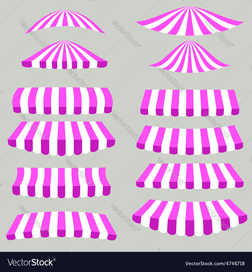 Pink white tents vector | Price: 1 Credit (USD $1)