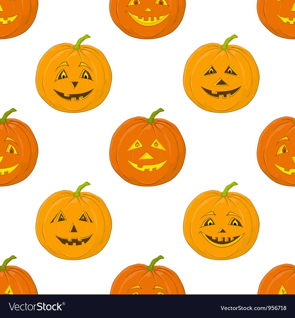Pumpkins jack o lantern seamless background vector | Price: 1 Credit (USD $1)