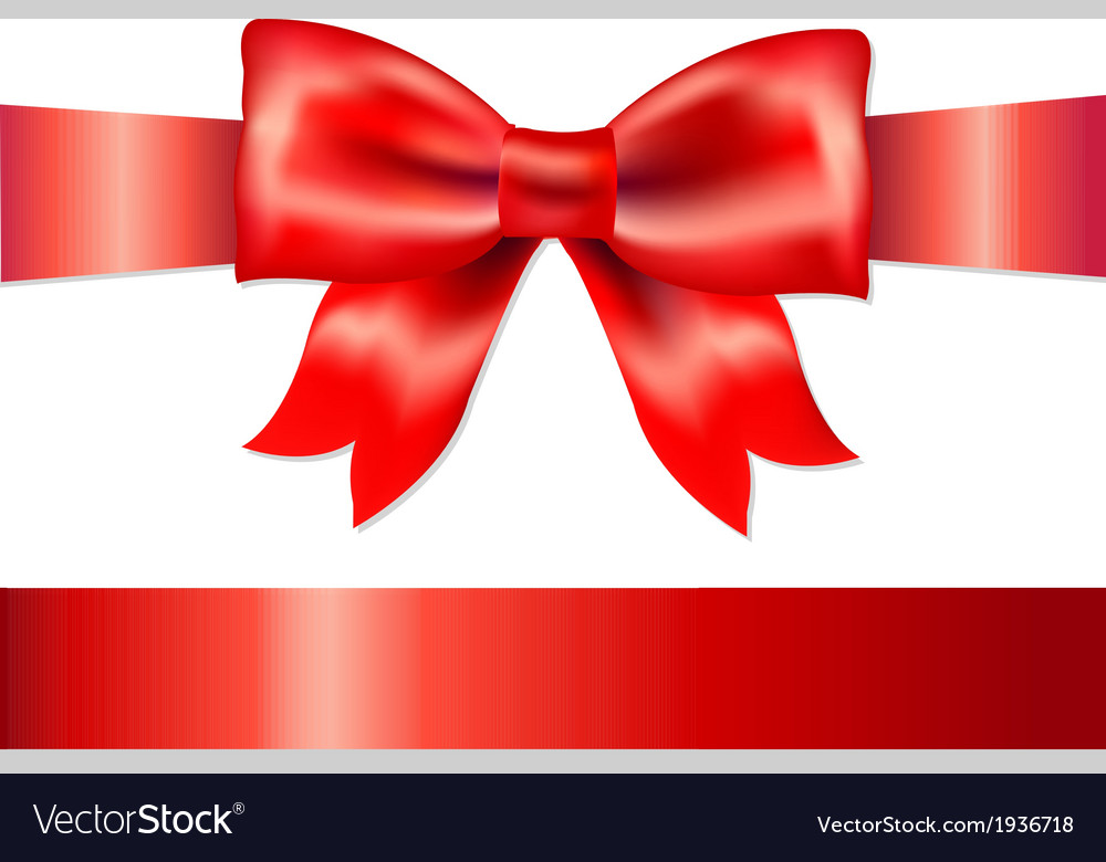 Red gift satin bow vector | Price: 1 Credit (USD $1)