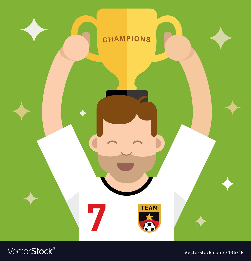 Winning a trophy vector | Price: 1 Credit (USD $1)