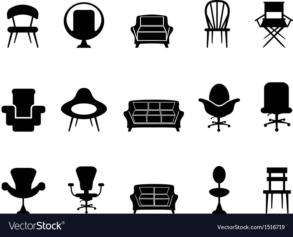 Chair icons vector | Price: 1 Credit (USD $1)