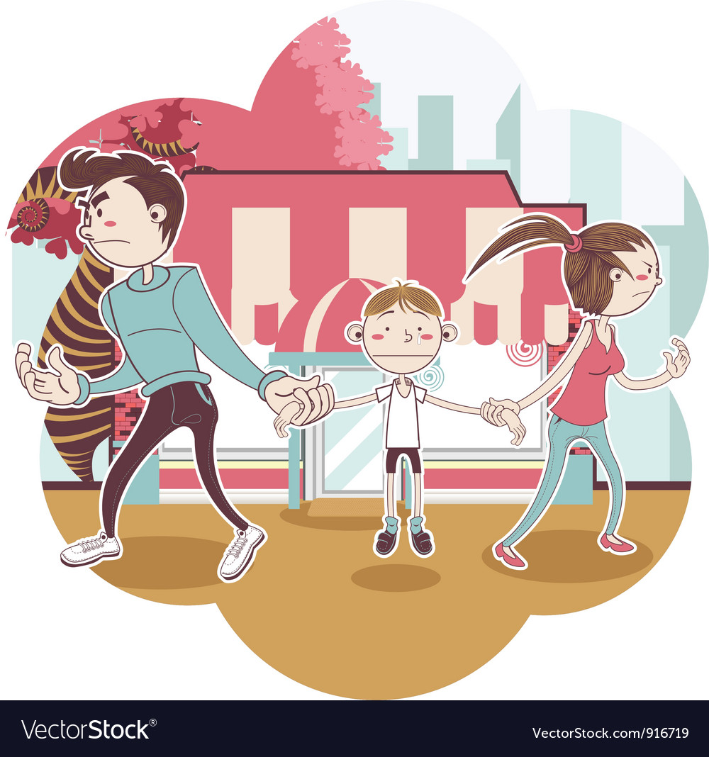 Child custody vector | Price: 3 Credit (USD $3)