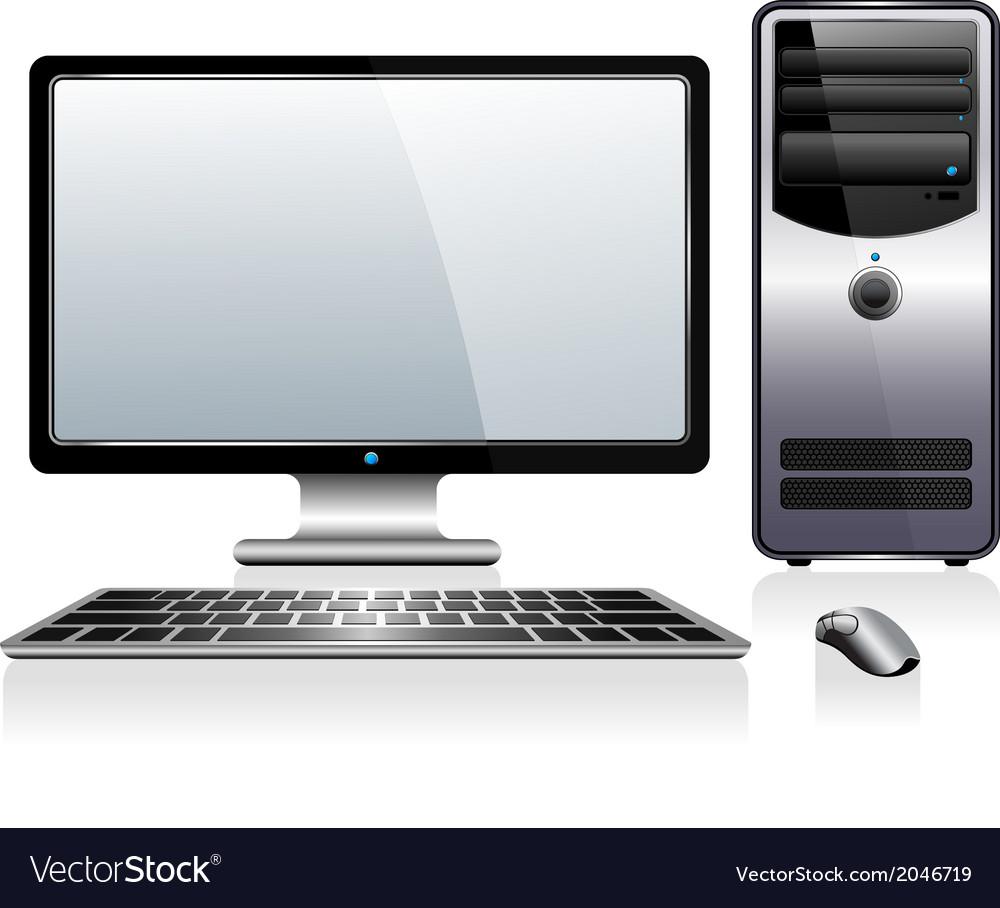 Desktop computer vector | Price: 1 Credit (USD $1)