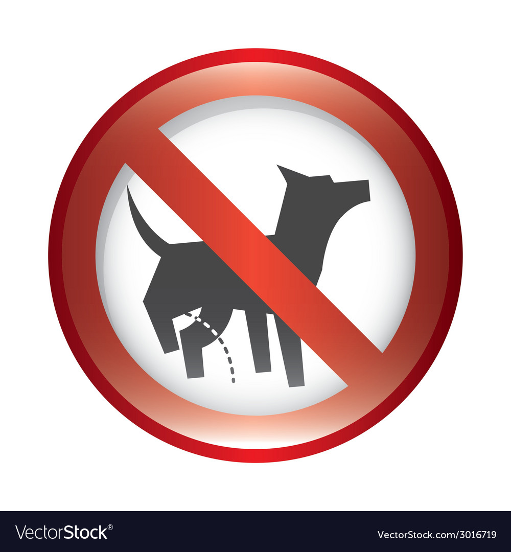 Forbidden dog design vector | Price: 1 Credit (USD $1)