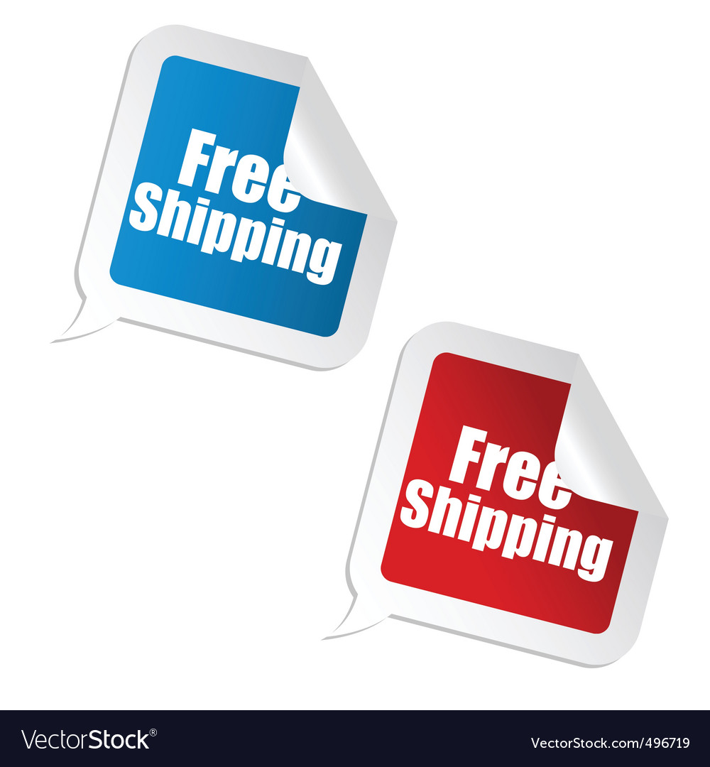 Free shipping sticker vector | Price: 1 Credit (USD $1)
