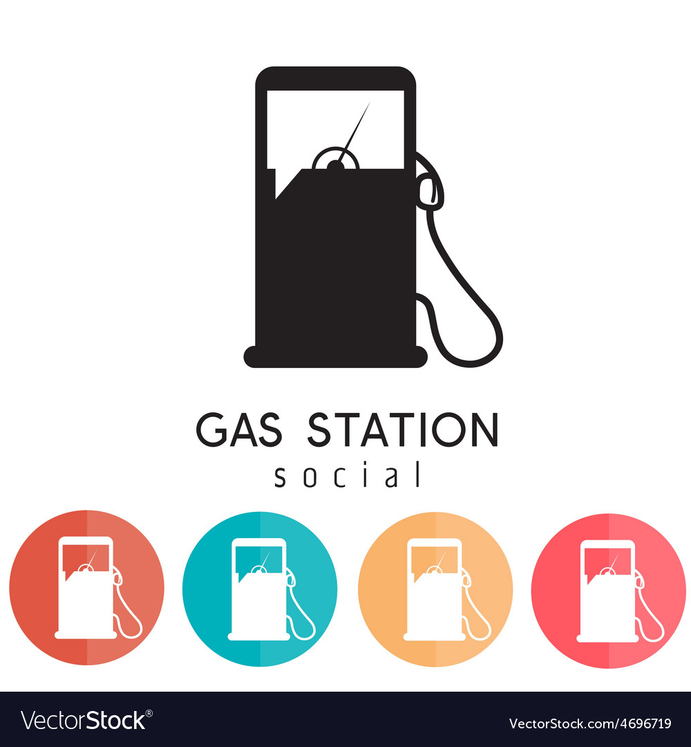 Gas station social design template vector | Price: 1 Credit (USD $1)
