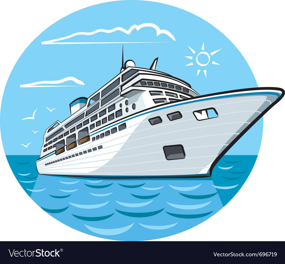 Luxury cruise ship vector | Price: 3 Credit (USD $3)