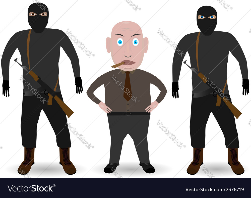 Mafia boss and gansters vector | Price: 1 Credit (USD $1)