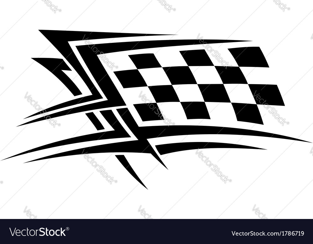Racing sports tattoo vector | Price: 1 Credit (USD $1)
