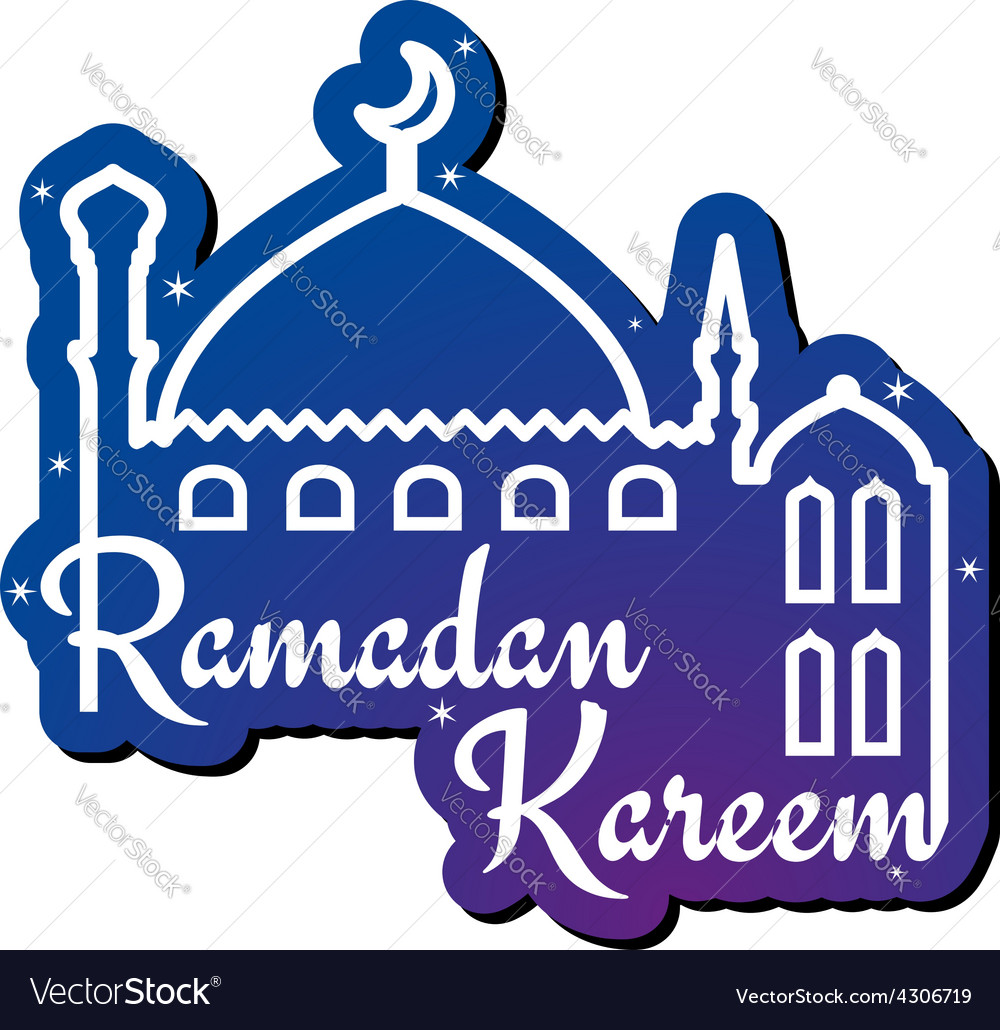 Ramadan kareem greeting card design template vector | Price: 1 Credit (USD $1)