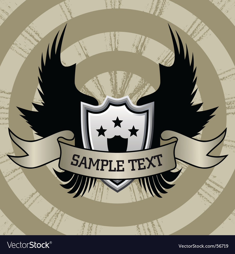 Wings and scroll vector | Price: 1 Credit (USD $1)