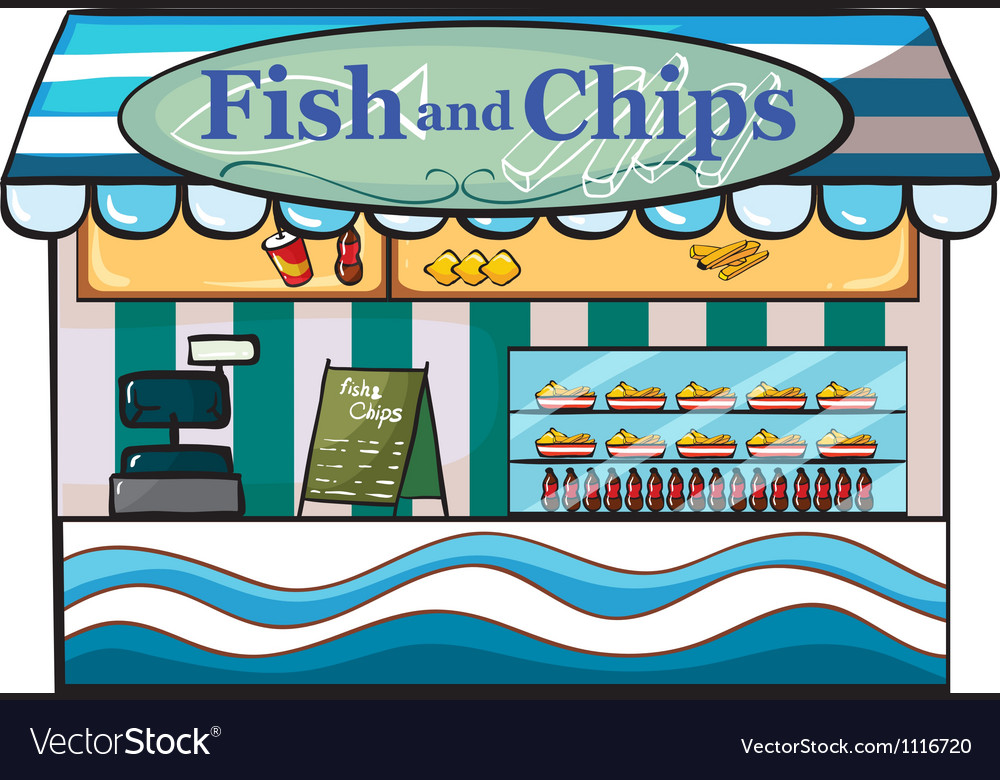 A fish and chips shop vector | Price: 1 Credit (USD $1)