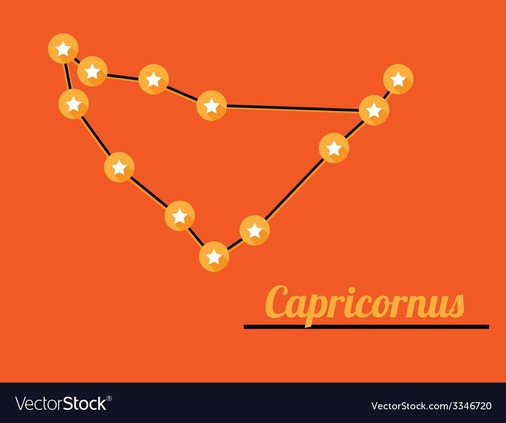 Constellation capricornus vector | Price: 1 Credit (USD $1)