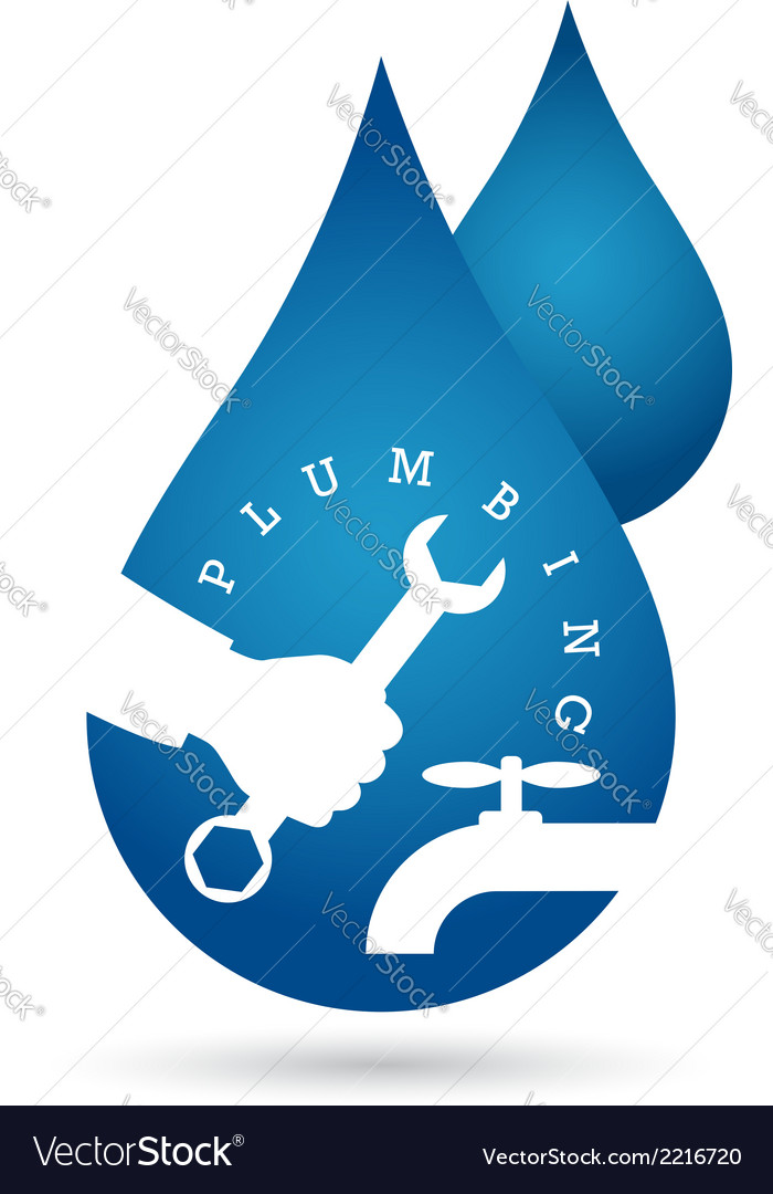 Drop of water plumbing repairs vector | Price: 1 Credit (USD $1)