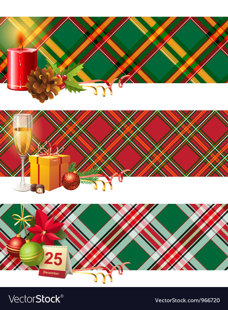 English christmas borders vector | Price: 5 Credit (USD $5)