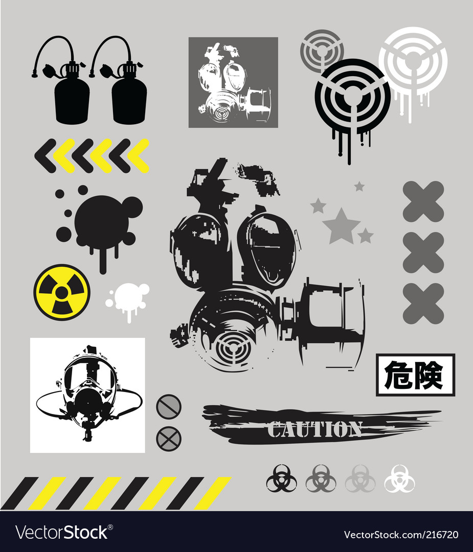 Grunge graphic objects vector | Price: 1 Credit (USD $1)