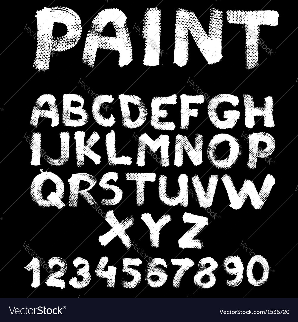 Hand-drawn font on textured paper with paint vector | Price: 1 Credit (USD $1)