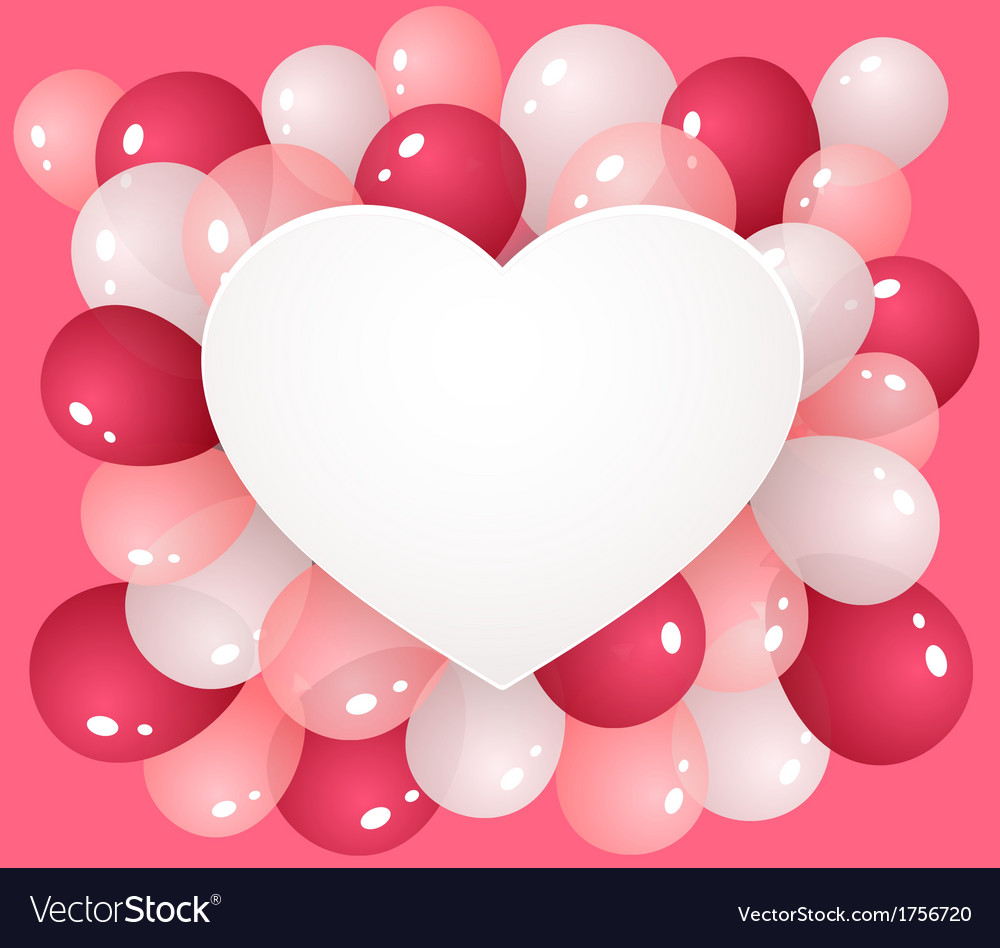 Heart with balloons vector | Price: 1 Credit (USD $1)