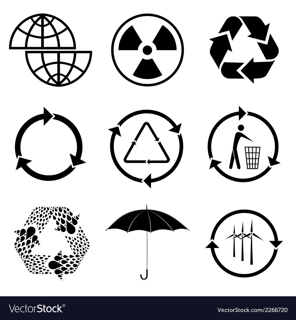 Icons of ecology vector | Price: 1 Credit (USD $1)