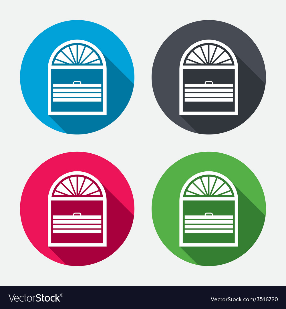 Louvers plisse sign icon window blinds jalousie vector | Price: 1 Credit (USD $1)