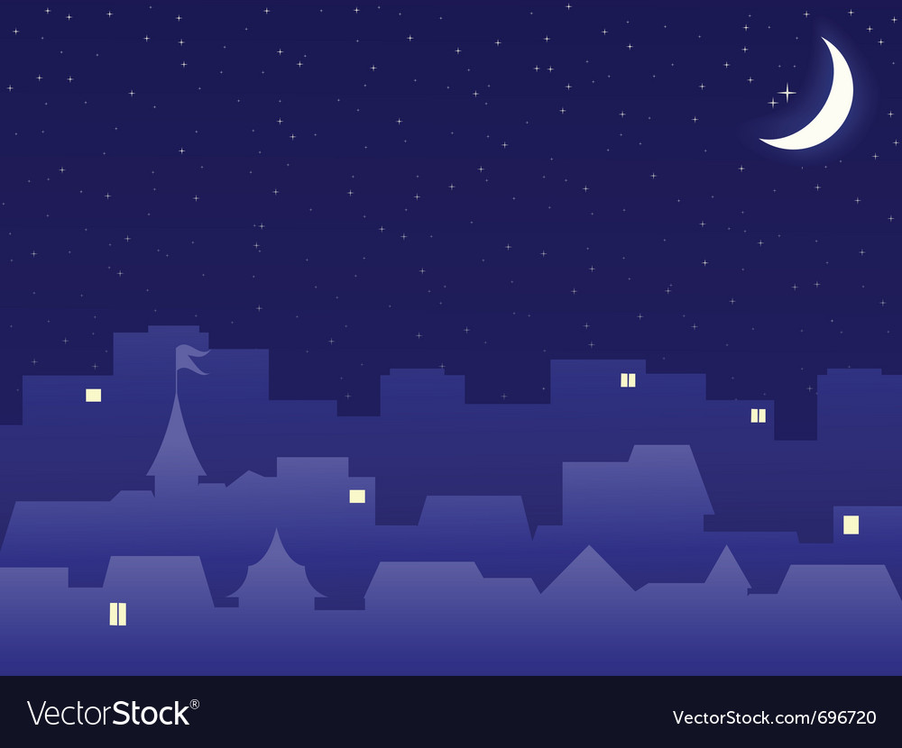 Night scenery vector | Price: 1 Credit (USD $1)