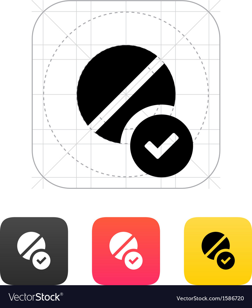 Pill icon vector | Price: 1 Credit (USD $1)
