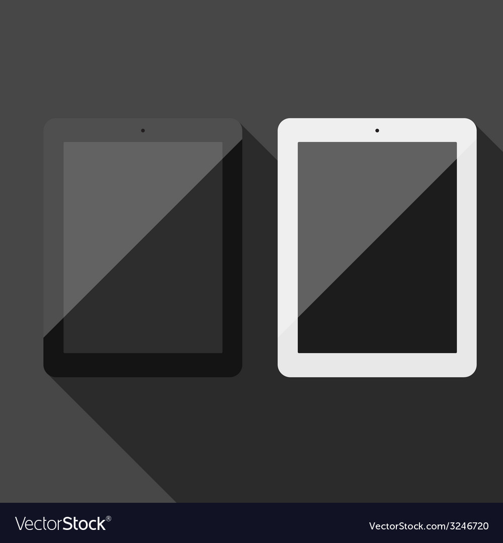 Realistic tablet pc vector | Price: 1 Credit (USD $1)