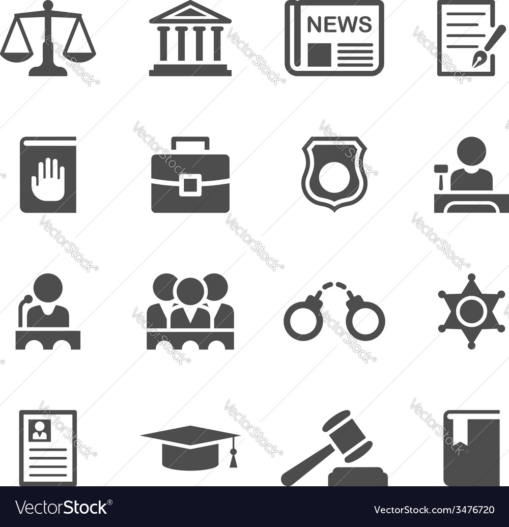 Set of law and justice icons vector | Price: 1 Credit (USD $1)
