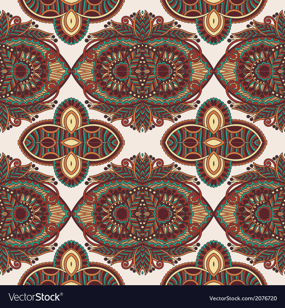 Vintage floral paisley seamless pattern vector | Price: 1 Credit (USD $1)